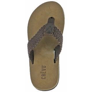 Crevo Calabresas Men's Leather Sandals Flip Flops (More options available)