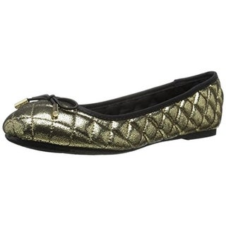 Report Womens Merlyn Ballet Flats Quilted Metallic