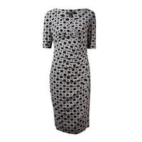 Lauren Ralph Lauren Women's Pattern Print Jersey Dress - black/cream/grey