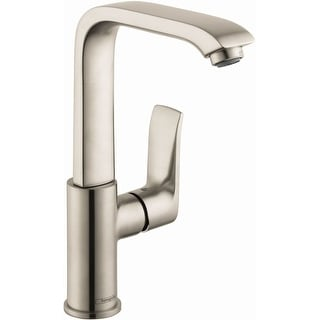Hansgrohe 31087  Metris 1.2 GPM Single Hole Bathroom Faucet with EcoRight, Quick Clean, and ComfortZone Technologies - Drain