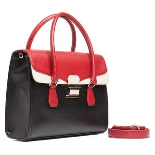 Moschino JC4144 000A Black/Red/Ivory Satchel/Shoulder Bag
