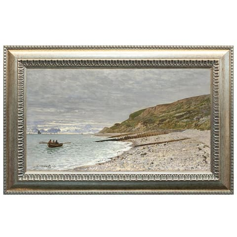 The Pointe of Heve by Claude Monet Oil Painting Silver Frame 29 x 18 Framed Painting