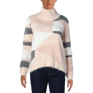 Vince Camuto Womens Soft Colorblock Pullover Sweater