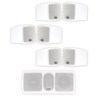 Acoustic Audio AA321W and AA32CW Mountable Indoor Speakers Home 7 Speaker Set