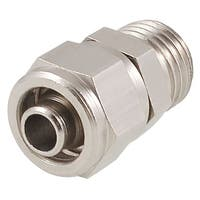 Unique Bargains Silver Tone Metal 0.51 Male Thread 7mm Hose Quick Joint Connector