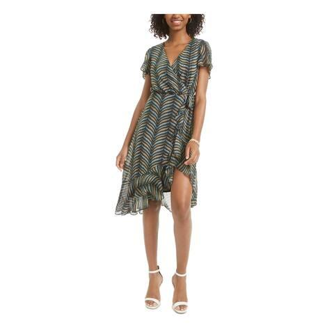 CITY STUDIO Black Short Sleeve Knee Length Dress 0