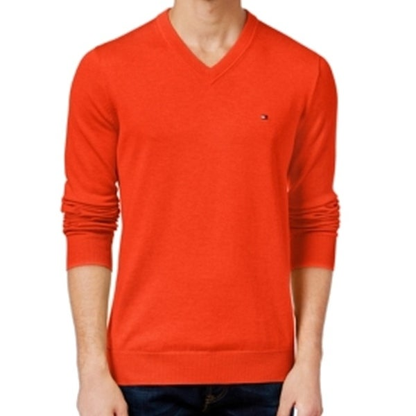 Shop Tommy Hilfiger NEW Orange Como Mens Size XL V-Neck Pullover Sweater -  Free Shipping On Orders Over  45 - Overstock - 16920099 4e5a6685e
