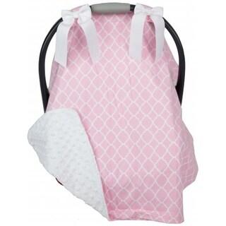 Caught Ya Lookin Car Seat Cover, Pink Quatrefoil