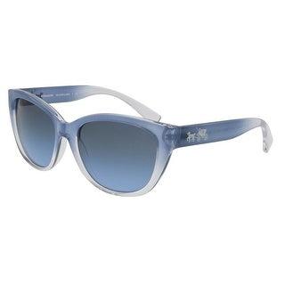 Coach HC8163 537517 Aqua Blue Cat Eye Sunglasses