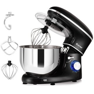 Costway Electric Food Stand Mixer 6 Speed 6.3Qt 660W Tilt-Head Stainless Steel Bowl