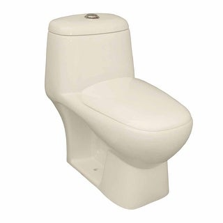 Toilet Elongated One Piece Dual Flush Seat Included Bone Renovator's Supply