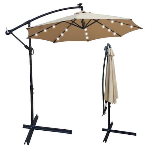 10ft Outdoor Umbrella Solar Powered LED Lighted