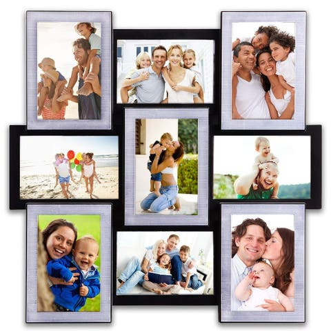 """Hello Laura 9 Opening 18"""" x 18"""" Wall Hanging Photo Frame"""