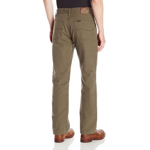 Lee Men's Flannel Lined Relaxed Fit Straight Leg Jean