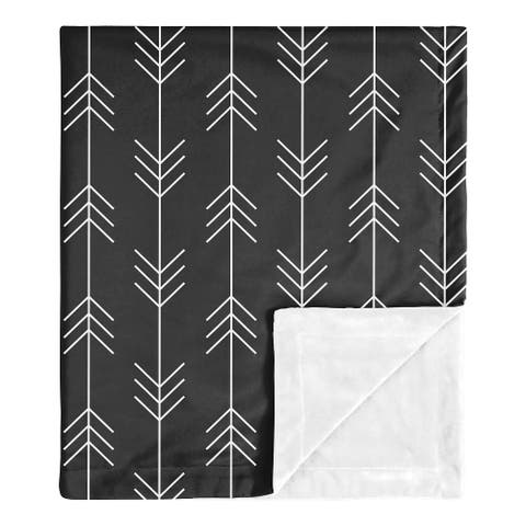 Black and White Woodland Arrow Collection Boy Baby Receiving Security Swaddle Blanket - Rustic Country Farmhouse Lumberjack