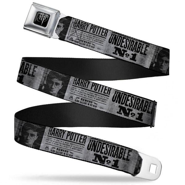 Harry Potter Logo Full Color Black White Harry Potter Undesirable No 1 Seatbelt Belt