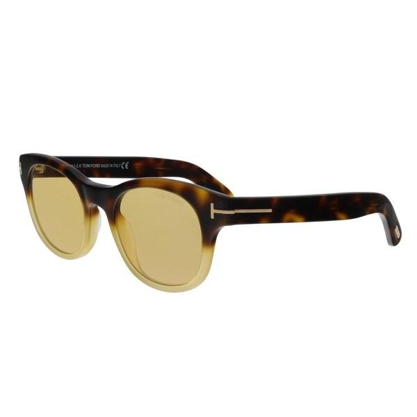 a21a7c5a4e059 Shop Tom Ford FT0531 55E Fisher Havana Yellow Square Sunglasses - No ...