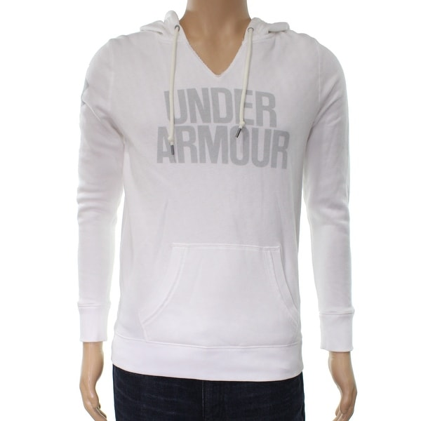 Shop Under Armour NEW White Mens Size XS Graphic Hooded V-Neck Sweater -  Free Shipping On Orders Over  45 - Overstock - 19663336 f0618f322a33