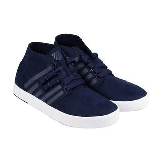 K-Swiss D R Cinch Chukka Mens Blue Suede Casual Dress Lace Up Chukkas Shoes