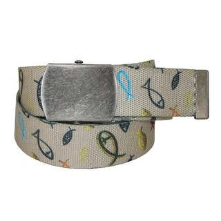 CTM® Men's Big & Tall Adjustable Belt with Christian Fish - One size|https://ak1.ostkcdn.com/images/products/is/images/direct/5f48c519cc41e8232e2d1b55eeefdb450ff28baf/CTM%C2%AE-Men%27s-Big-%26-Tall-Adjustable-Belt-with-Christian-Fish.jpg?impolicy=medium