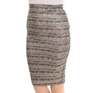 Womens Black Blue Striped Casual Skirt Size 2XS
