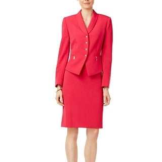 Tahari By ASL NEW Pink Azalea Women Size 18 Zip-Pockets Skirt Suit Set