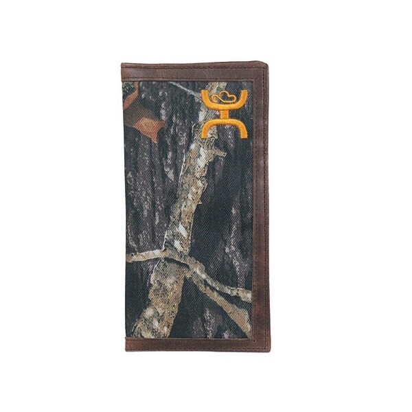 HOOey Western Wallet Mens Signature Rodeo Camo Slots Brown - 3 1/2 x 3/4 x 7
