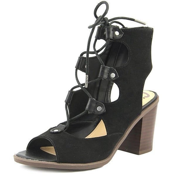 Circus by Sam Edelman Kiera Women Open-Toe Suede Black Bootie