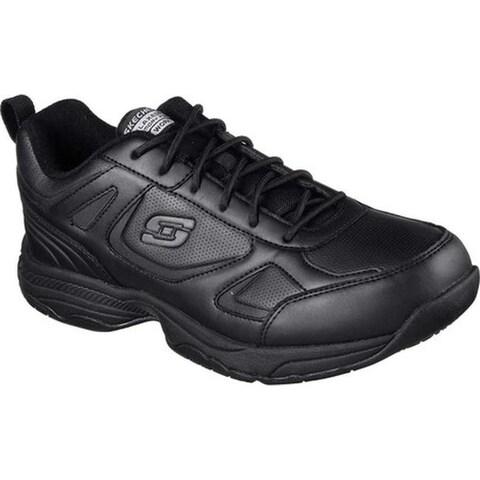 Skechers Men's Work Relaxed Fit Dighton Slip Resistant Sneaker Black