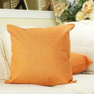 Hello Laura Couch Throw Pillow Cushion Case Shell Cover, Linen Burlap
