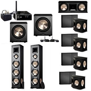 BIC Acoustech 7.2 System w/ 2 PL-980 Speakers, PL-28 II, 4 PL-66 , PL-200 Wireless Sub, PL-200 Sub, 2 Wireless Receiver Add on
