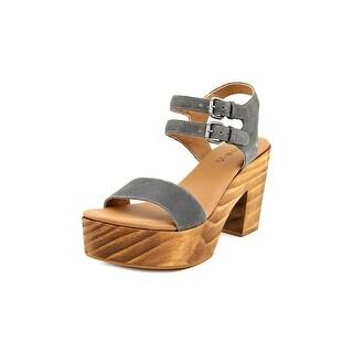 Kelsi Dagger Sky Open Toe Suede Platform Sandal
