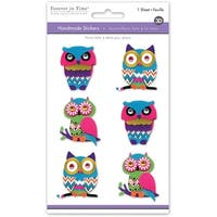 Multicraft 3D Big Icons Stickers-Boho Owl