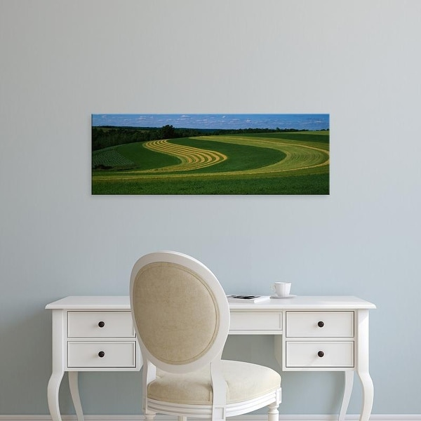 Easy Art Prints Panoramic Images's 'Curving crops in a field, Illinois, USA' Premium Canvas Art