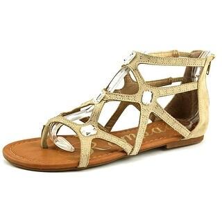 Rampage Womens Pixen Fabric Split Toe Casual Gladiator Sandals