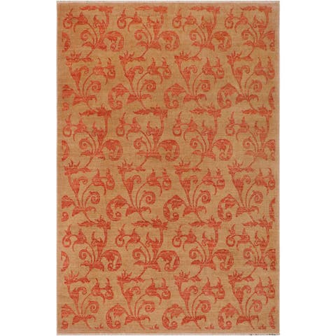 """Ziegler Spring Tan Rust Hand Knotted Wool Rug 8'10 x 11'6 - 8'10"""" x 11'6"""""""