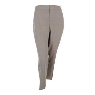 Kasper Women's Petite 'Kristy' Slim Fit Woven Dress Pants - mink/black - 10P