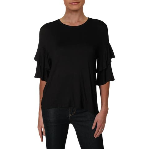 Splendid Womens Pullover Top Tiered Sleeve High Low - XS