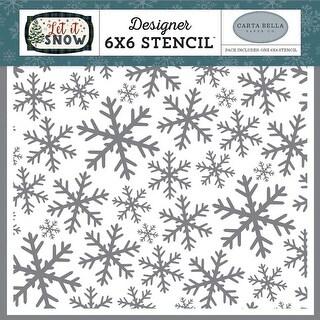 "Frosted Window Panes - Carta Bella Stencil 6""X6"""