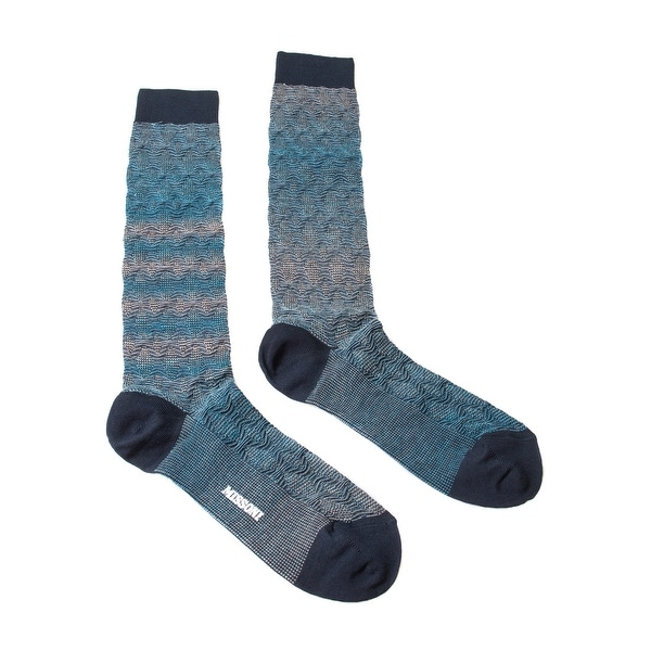 Missoni GM00WMU5248 0005 Turquoise/Purple Knee Length Socks - S