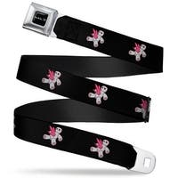 Halo Logo Full Color Black Silver Fade Halo Super combine Black Webbing Seatbelt Belt