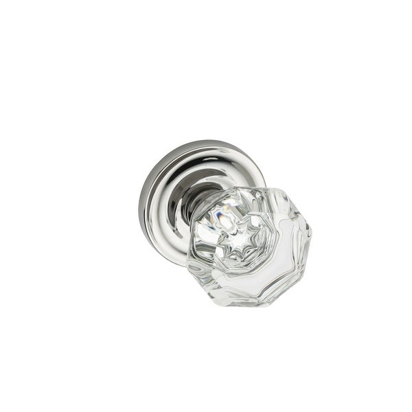 Montana Forge K4-R1-4090 Single Dummy Door Knob Set with K4 Knob and R1 Rose from the Contemporary Collection