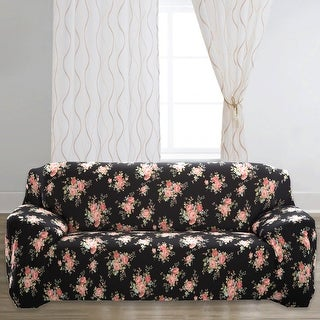 Unique Bargains Rose Print Stretch Sofa Slipcovers