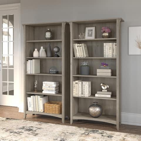Salinas Tall 5 Shelf Bookcase - Set of 2 by Bush Furniture