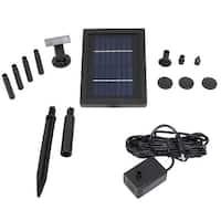 Sunnydaze Solar Pump & Solar Panel Kit With 5 Spray Heads 40 GPH 24 Inch Lift