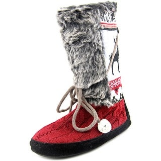Muk Luks Jewel Slipper Boot Women Round Toe Synthetic Slipper