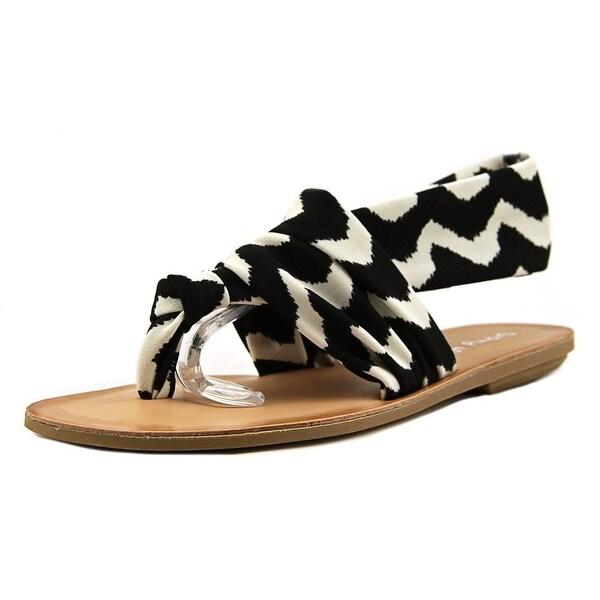 Dirty Laundry Bright Spot Women Zig Z Black Sandals