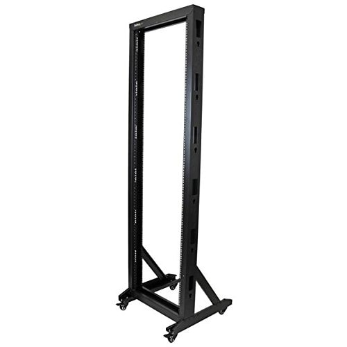 Startech 2Postrack42 2-Post Server Rack With Casters - 42U