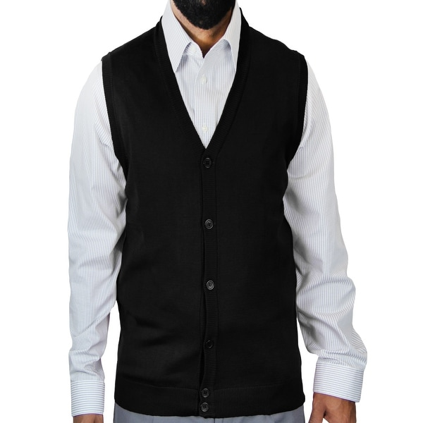 Classic Solid Color Cardigan Vest (SV-200)