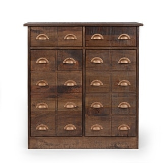 Christopher Knight Home Terrell Indoor Mango Wood Handcrafted Cabinet